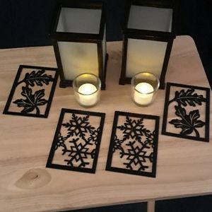 Partylite changeable magnetic candle lanterns